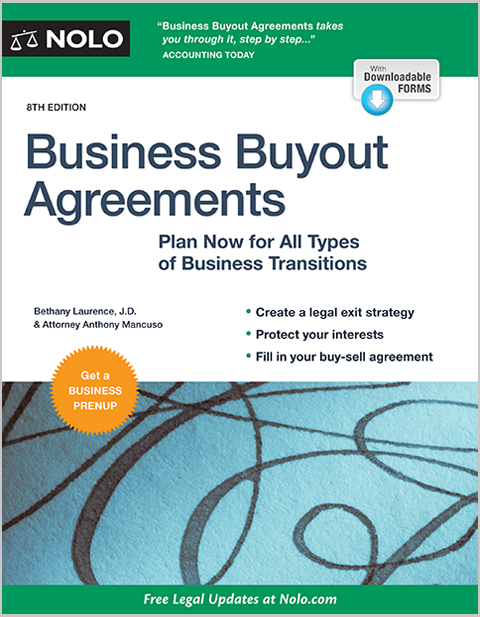 Business Buyout Agreements Legal Book Nolo