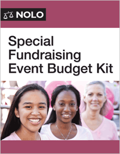 Special Fundraising Event Budget Kit