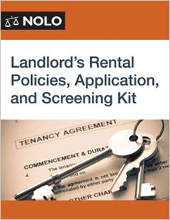 Landlord's Rental Policies, Application, and Screening Kit