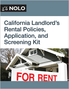 California Landlord's Rental Policies, Application and Screening ...