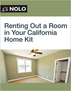 Renting Out A Room In Your California Home Kit Legal Form Guide