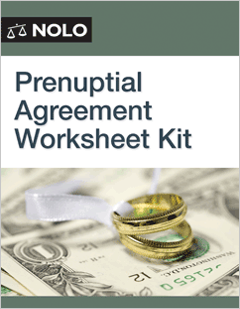 Prenuptial Agreement Worksheet Kit