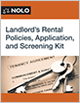 Landlord's Rental Policies, Application, and Screening Kit