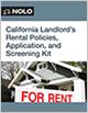 California Landlord's Rental Policies, Application and Screening Kit