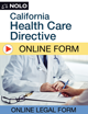 California Health Care Directive