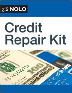 credit repair kit legal form nolo. Black Bedroom Furniture Sets. Home Design Ideas