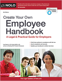 create your own employee handbook legal guide for employers nolo