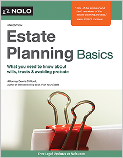 Estate planning basics legal book nolo fandeluxe Choice Image