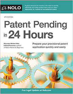 Patent Pending In 24 Hours Legal Book Nolo