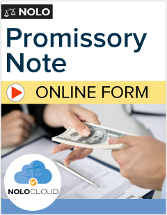 Promissory Note Create Now NoloCloud Legal Forms Nolo - Short term promissory note template