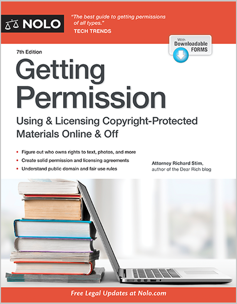 Getting Permission License Clear Copyrighted Materials Legal Book Nolo