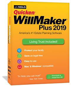 Quicken Willmaker Plus 2019 Edition Nolo